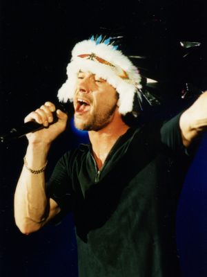 Jamiroquai performing at Vibes on a Summer's Day in 2002.