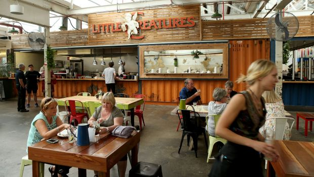 The dining room inside the Little Creatures Brewery in Geelong.