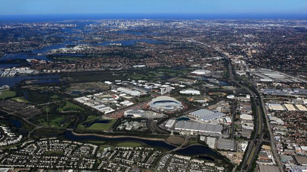 An early taskof the greater Sydney Commission  will be to revamp  the Olympic Park, Homebush, area.