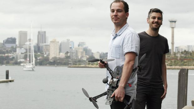 Propeller Aerobotics founders Rory San Miguel and Francis Vierboom say technology should be Australia's new export industry.