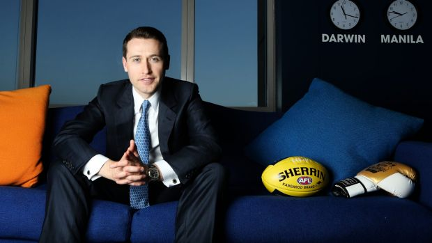 Tom Waterhouse, chief executive of bookmaker William Hill's Australian arm. Bookmakers are lobbying to legalise a ...