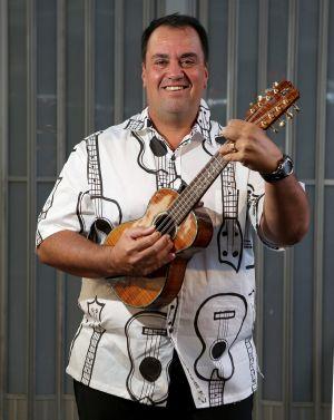 Joe Souza, maker of Kanile'a Ukuleles in Hawaii.