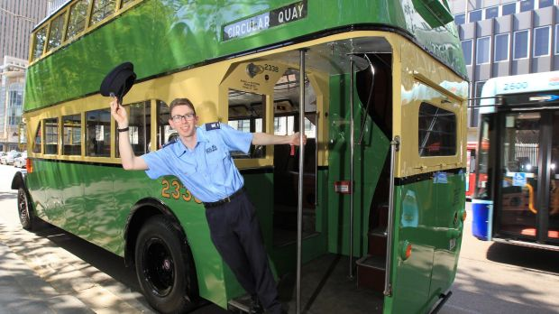 Vintage buses were part of the farewell to George Street on Saturday.