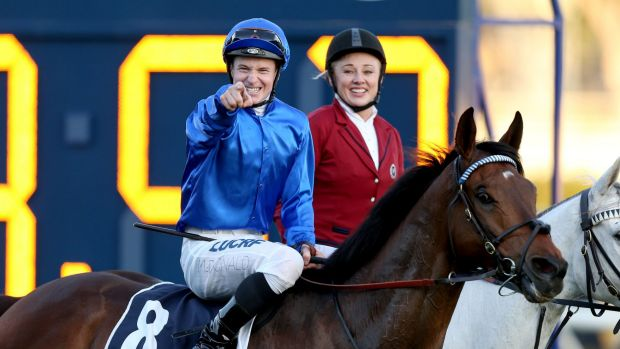 Straight back at you: James McDonald's Metropolitan win on Magic Hurricane capped a great day for Godolphin.