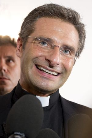 Monsignor Krzysztof Charamsa during a press conference in Rome.