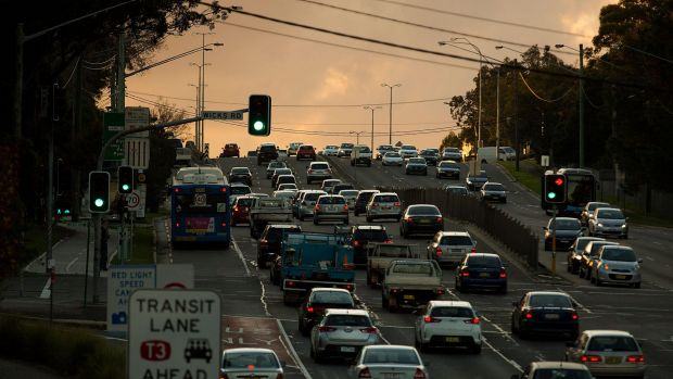 Epping Road is one of Sydney's most congested arterial routes at peak hour.