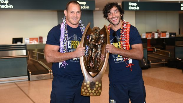 Chasing history: Matthew Scott and Johnathan Thurston are vying to help the Cowboys become the first side to win ...