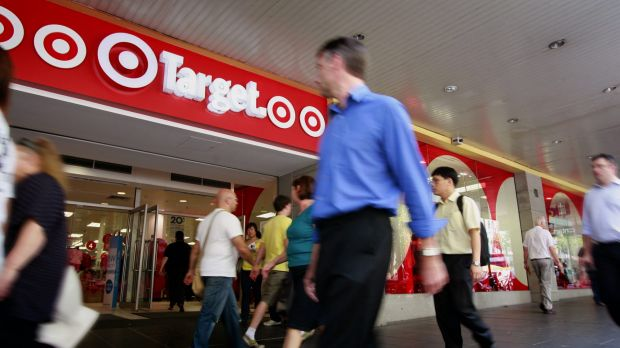 Target's earnings have fallen 70 per cent in the past five years.