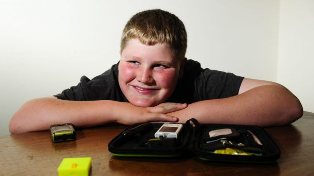 St Edmunds College year 5 student William Grame, 11, has designed a test strip disposal unit as part of the ...