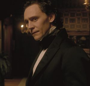 In <i>Crimson Peak</i> Tom Hiddleston plays an impoverished English baronet desperate to make his fortune from an invention.