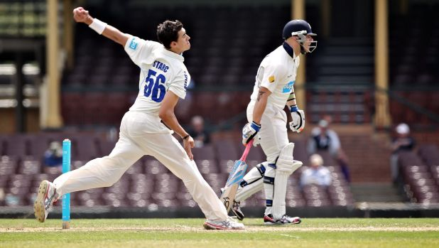 Soldiering on: Mitchell Starc will keep bowling, despite the pain.