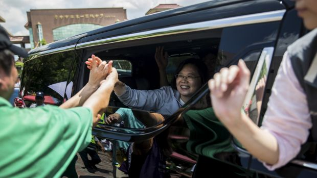 Tsai Ing-wen, the Democratic Progressive Party presidential candidate, in Taiwan last month.