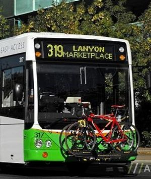 Bike racks are already a common feature on Canberra's buses.