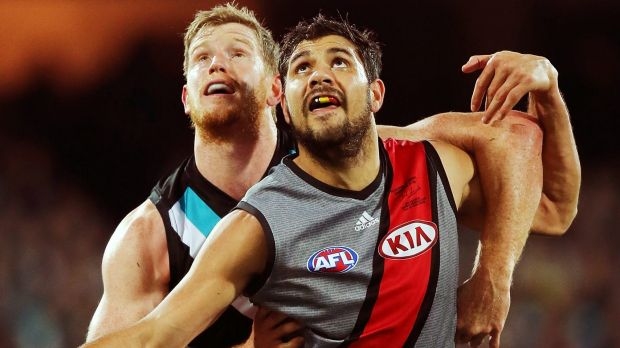 In other times: Paddy Ryder when he was playing for the Bombers in 2014.