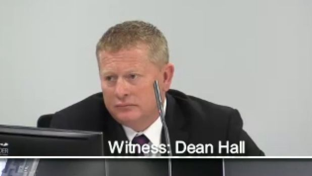CFMEU's Dean Hall gives evidence at the Royal Commission into Trade Union Governance and Corruption before Commissioner ...