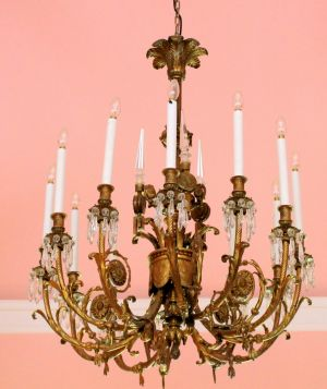 The fine art of downsizing an outstanding french 19th century twelve branch ormolu chandelier estimate 5000 to mozeypictures Images