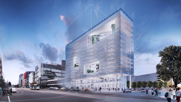 An artist's impression of The University of Melbourne's Carlton Connect innovation hub, where the Lockheed Martin lab ...