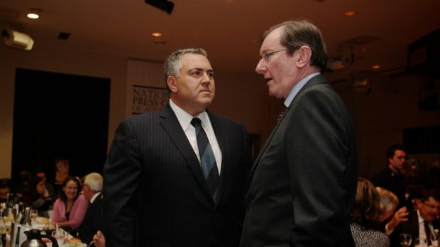 Then shadow treasurer Joe Hockey with Loughnane, in 2012.