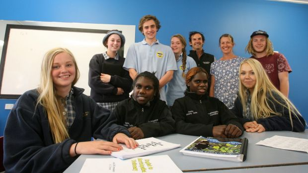 A small class at Bright College is the only class in Victoria learning an Indigenous language as part of their VCE.