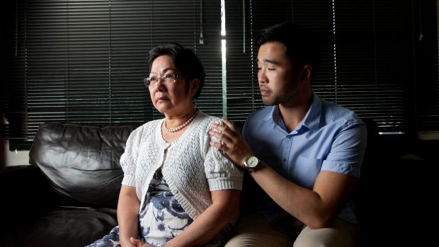 Hong Vo, mother of 22-year-old former Melbourne High student Martin Vo who took his own life last year, with her older ...