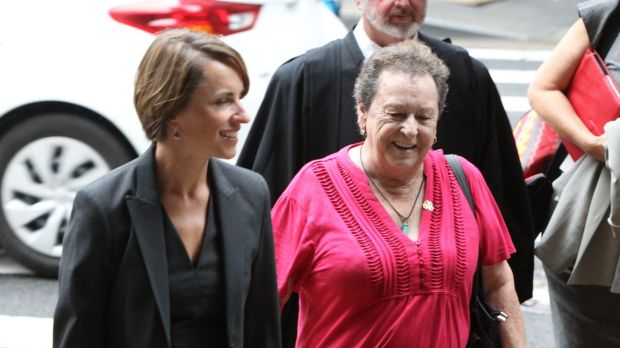 Yvonne D'Arcy and Rebecca Gilsenan (left) leave the court after they lost the Federal Court case in 2013.