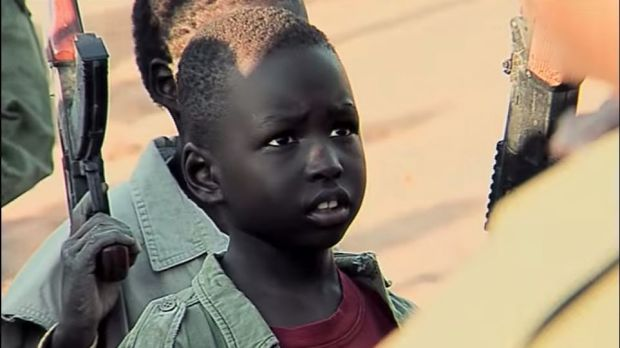 A still from the Western Sydney University video about Deng Adut.