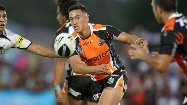 In the hot seat: Manaia Cherrington is expected to start at hooker for the Tigers' first-round match against the Warriors.
