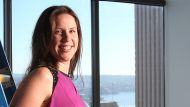 BOSS 16TH APRIL 2015 nicolette Maury inside her new offices at 1 O'connell st sydney the office is still under ...