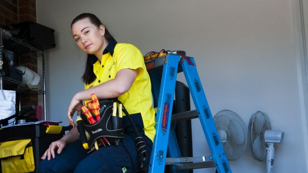 Electrical apprentice Allyce Daley Boorn,23, is disappointed she had a year under a 2 year pilot program for an improved ...