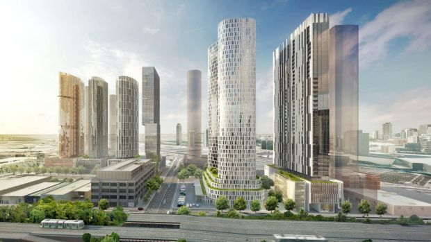 Six 40-level apartment towers, proposed on Normanby Road shortly after new 40-storey height limits were put in by the ...