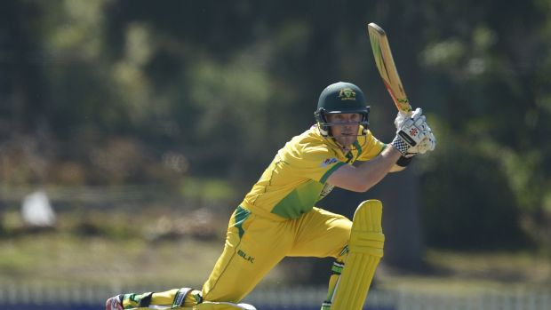 Jimmy Peirson in action for the CA XI against Tasmania.