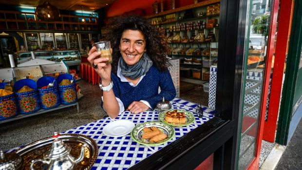 Owner of the Moroccan Soup Bar Hana Assafiri, who has opened the Moroccan Deli-Cacy in the former Miramar Nut Shop.
