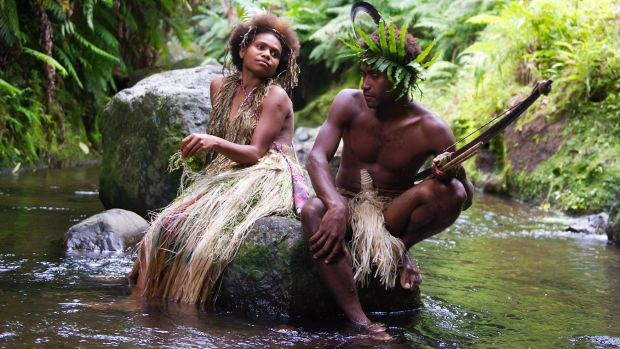 Marie Wawa as Wawa and Mungau Dain as Dain, the two star-crossed lovers in <i>Tanna</i>.
