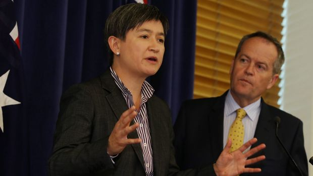 Opposition Leader Bill Shorten and shadow trade minister Penny Wong announce exposure draft amendments to the China free ...