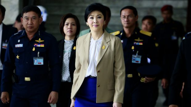 Yingluck Shinawatra in February 2014, when she was still Thailand's prime minister.