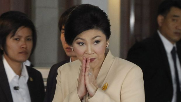 Ms Yingluck in January last year.