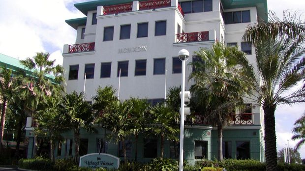Ugland House in the Cayman Islands. The building supposedly houses more than 12,000 corporations.