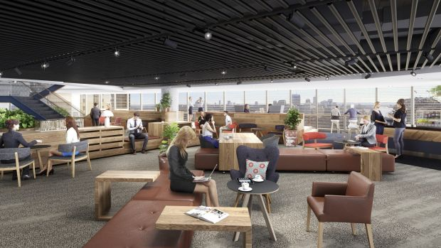Artist impression of interior of Mirvac's new headquarters at 200 George Street, co-owned by AMP Capital Wholesale Fund.