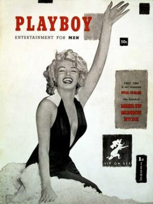 Marilyn Monroe on the cover of Playboy.