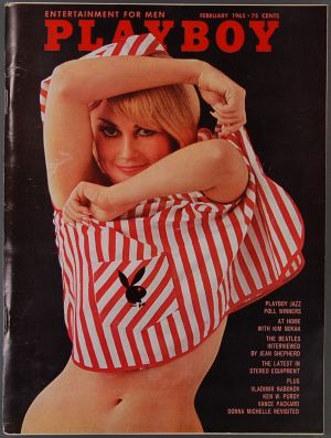 Playboy cover in February 1965.