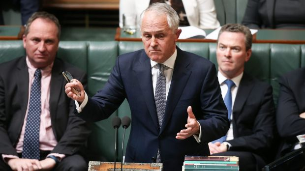 Prime Minister Malcolm Turnbull during question time on Thursday.