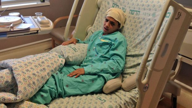 Thirteen-year-old Ahmed Manasra, who reportedly commited a stabbing attack in Pisgat Ze'ev in Jerusalem, is seen after ...