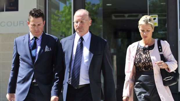 Federal Liberal MP Steve Irons exiting court after pleading guilty to drink driving.