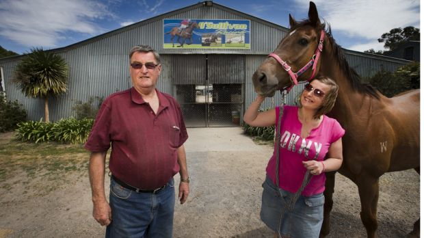 Terry O'Sullivan and daughter Karina with Magnapal at Stawell.