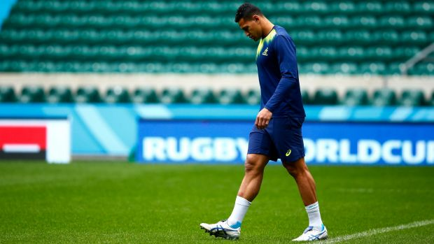 Big loss: Israel Folau will not feature against Scotland.