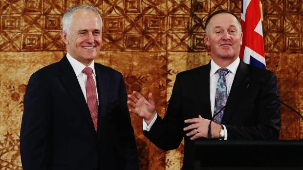 Prime Minister Malcolm Turnbull and his New Zealand counterpart John Key.