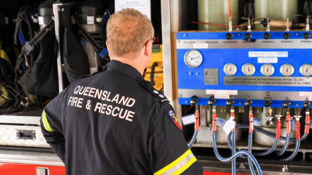 Two Queensland Fire and Emergency Service (QFES) crews were sent to Logan Reserve State School.