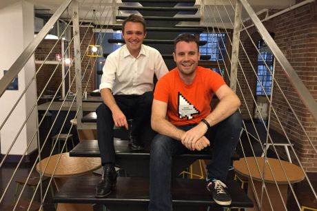 Federal Assistant Minister for Innovation Wyatt Roy with BlueChilli founder and policy hackathon host Sebastien ...