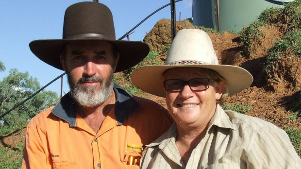 Central Queensland beef farmers Bruce and Annette Currie.