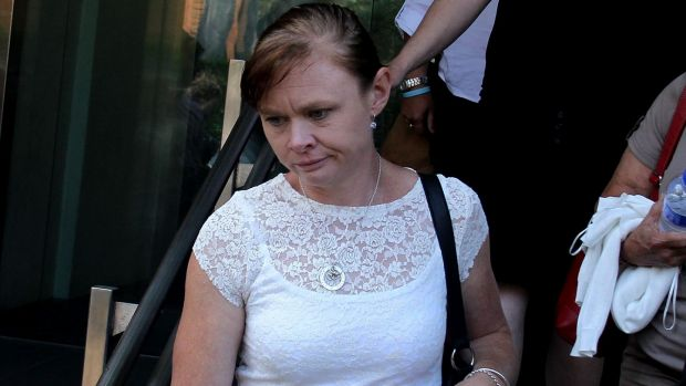 Bridget's mother Alaina Wright at NSW Coroner's Court in Glebe on Monday.